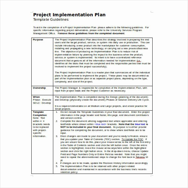 Simple Implementation Plan Template Luxury 11 Implementation Plan Templates Doc Pdf Google Docs