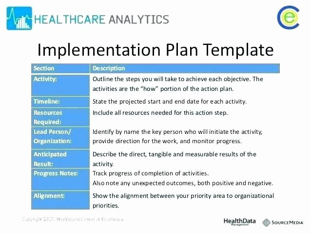 Simple Implementation Plan Template Unique Simple Project Implementation Plan Template