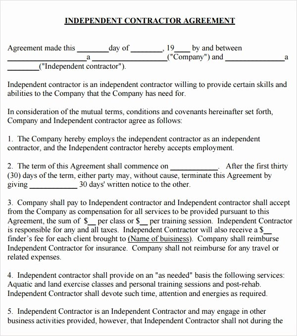 Simple Independent Contractor Agreement Template Lovely Free 17 Subcontractor Agreement Templates In Pdf