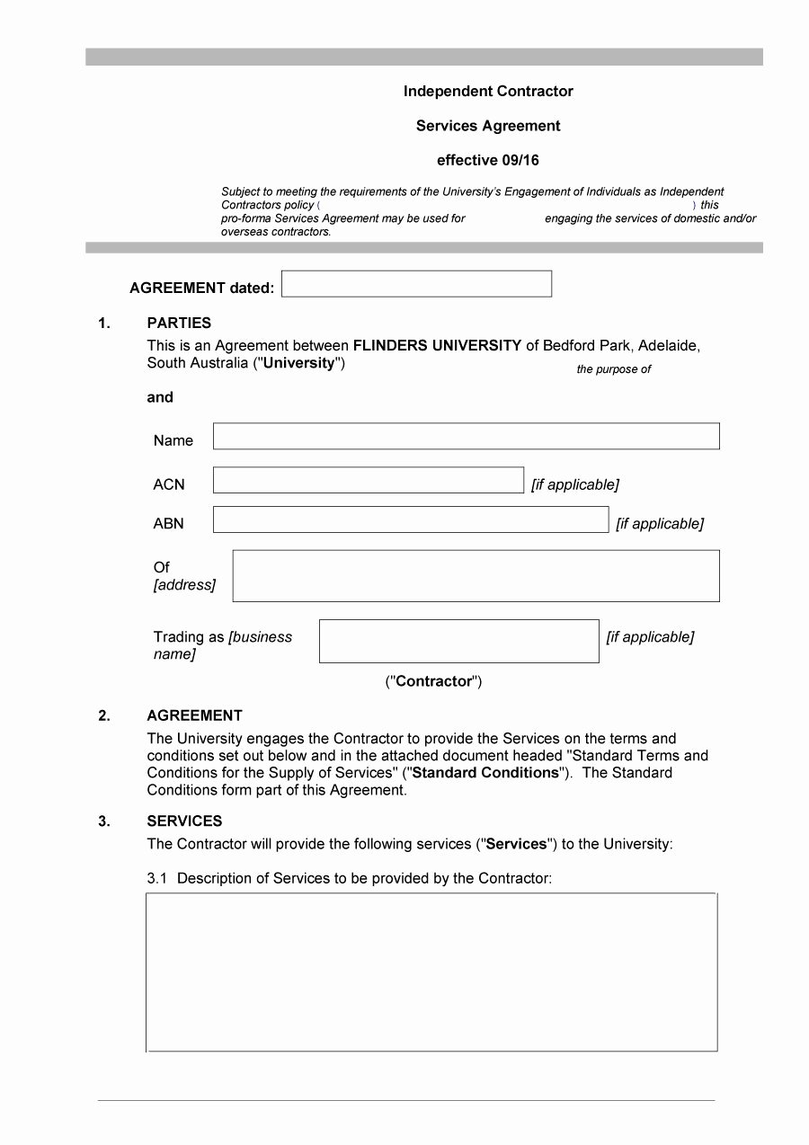 Simple Independent Contractor Agreement Template Luxury 50 Free Independent Contractor Agreement forms & Templates