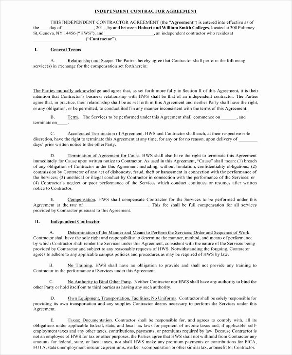Simple Independent Contractor Agreement Template New 18 Contractor Agreement Examples Pdf Word Docs