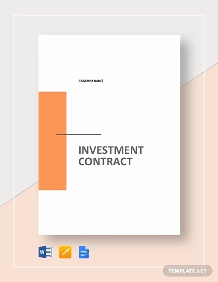 Simple Investment Contract Template Lovely 15 Investment Contract Templates Pdf Google Docs Word