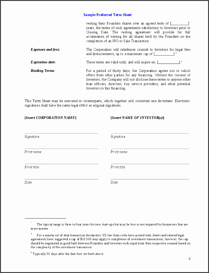 Simple Investment Contract Template Lovely 8 Investment Agreement Template Sampletemplatess