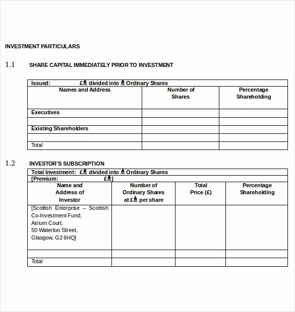 Simple Investment Contract Template New 15 Simple Investment Agreement Examples Pdf Word