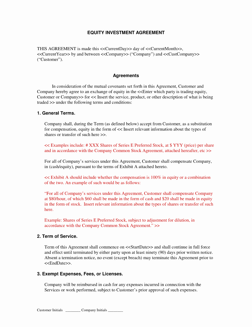 Simple Investment Contract Template Unique Simple Investment Contract Template Free Printable Documents