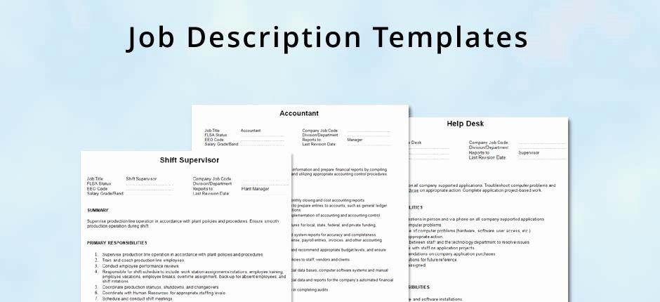 Simple Job Description Template Best Of Job Description Template Hrvillage