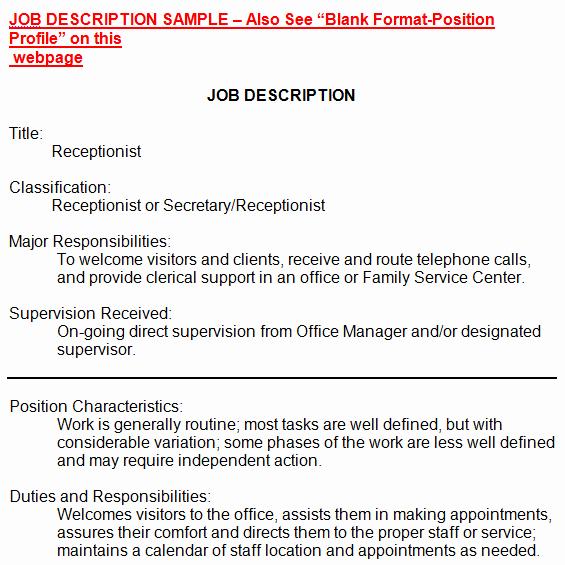 Simple Job Description Template New 19 Free Job Description Templates In Word Excel Pdf