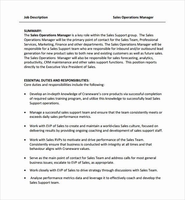 Simple Job Description Template New Sample Job Description Template 9 Free Documents
