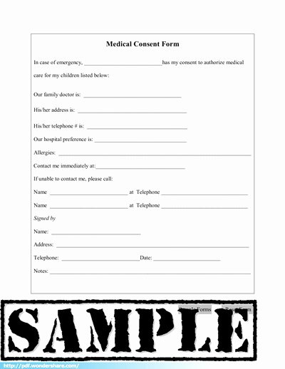 Simple Medical Release form Template Fresh Medical Consent Free Download Create Fill Print Pdf