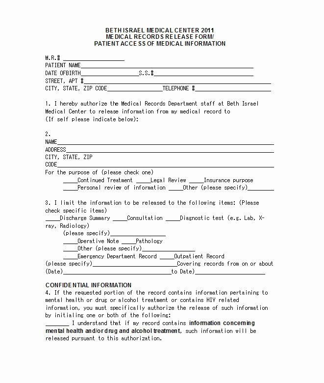 Simple Medical Release form Template Unique 30 Medical Release form Templates Free Template Downloads