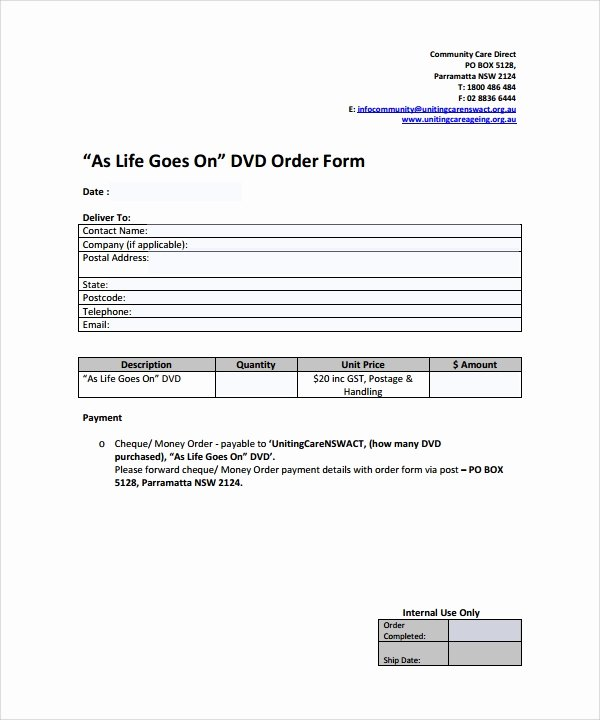 Simple order form Template Best Of order form Template 23 Download Free Documents In Pdf