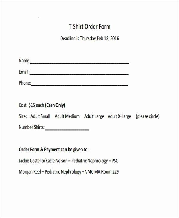 Simple order form Template Elegant Simple order forms