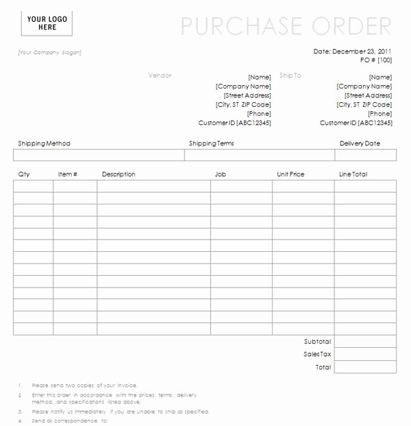 Simple order form Template New Purchase order with Simple Lines Design