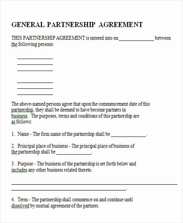 Simple Partnership Agreement Template Free Beautiful 43 Simple Agreement forms