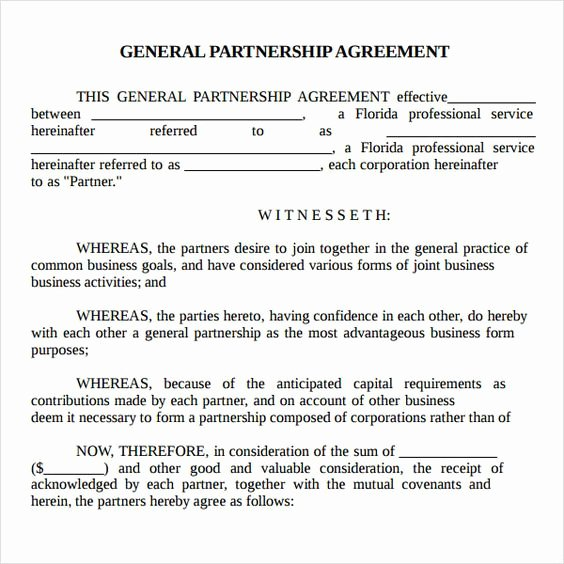 Simple Partnership Agreement Template Free Best Of Printable Sample Partnership Agreement Sample form