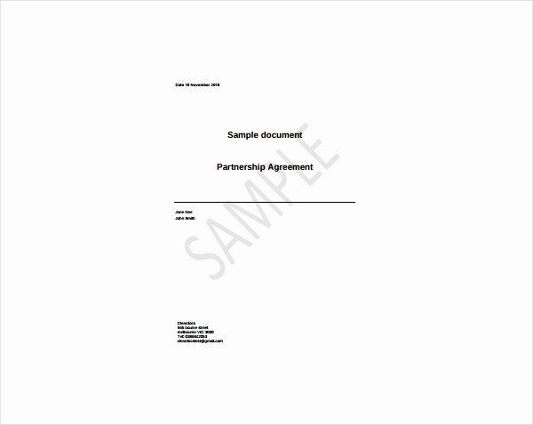 simple partnership agreement template
