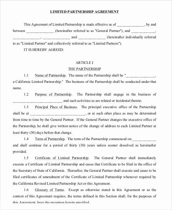 Simple Partnership Agreement Template Free Lovely Partnership Agreement 9 Free Word Pdf Documents