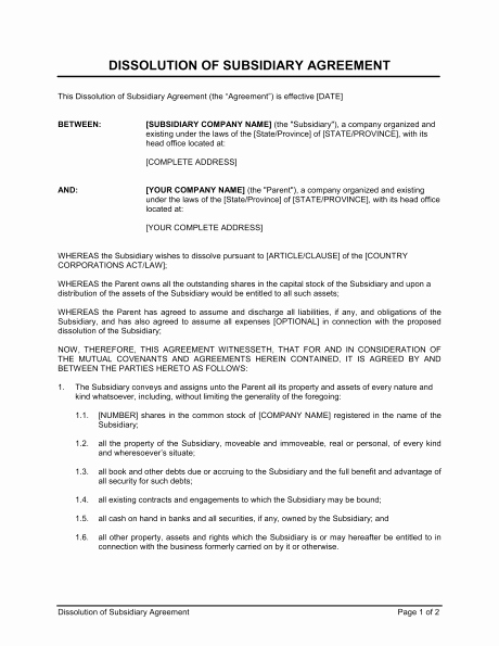 Simple Partnership Agreement Template Free New Partnership Dissolution Agreement Template & Sample form