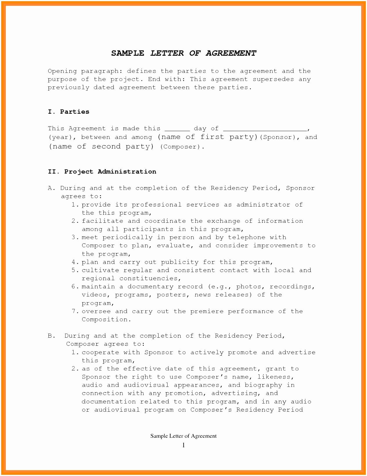 Simple Payment Plan Agreement Template Best Of 10 Template Contract Between Two Parties Twuaw