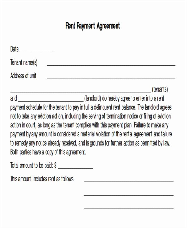 Simple Payment Plan Agreement Template Fresh Sample Payment Plan Agreement 10 Examples In Word Pdf