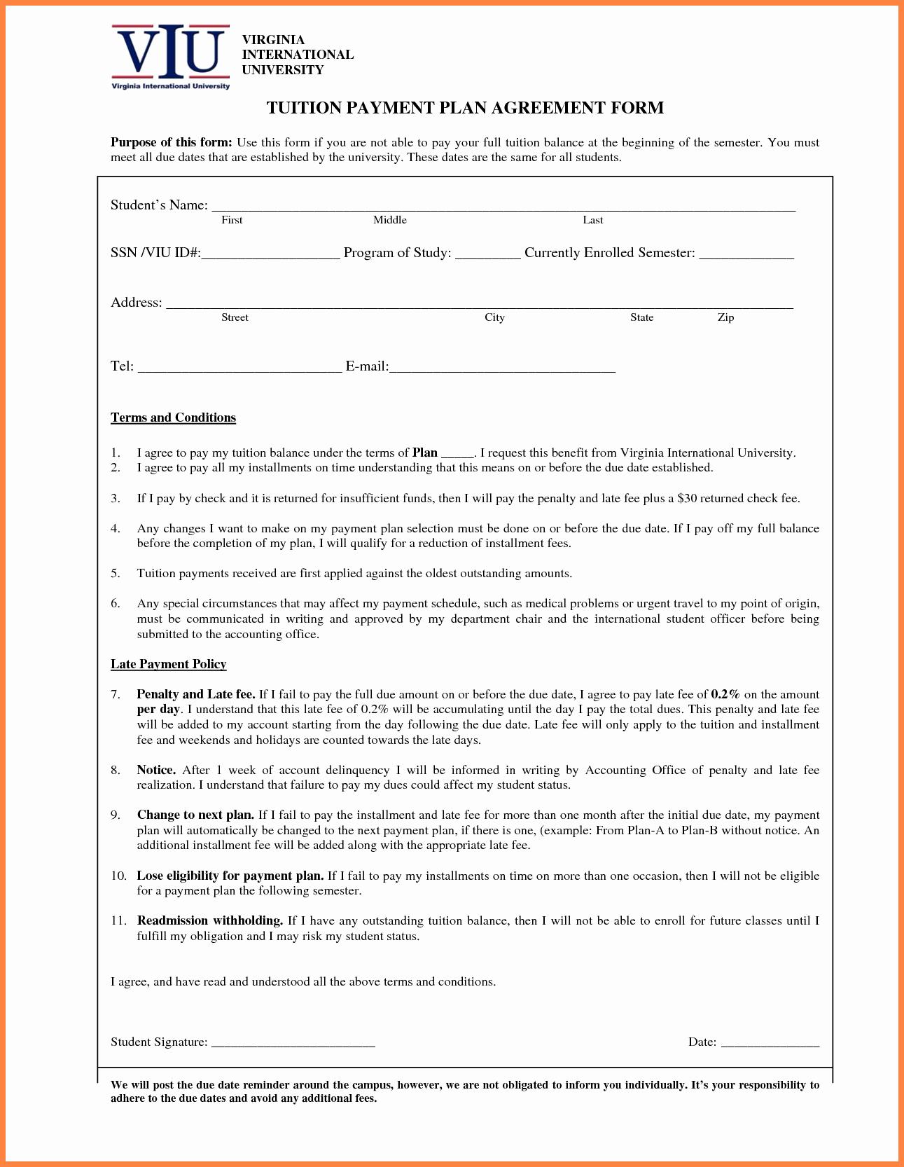 Simple Payment Plan Agreement Template Unique 4 Medical Payment Plan Agreement Template
