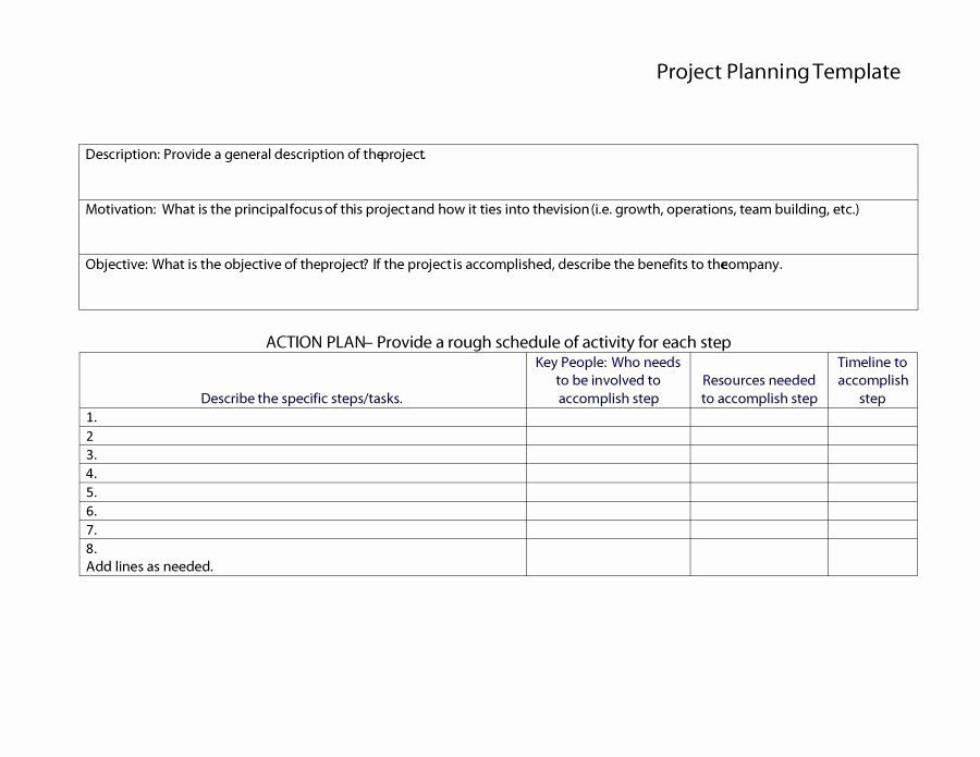 Simple Project Plan Template Word Elegant 48 Professional Project Plan Templates [excel Word Pdf