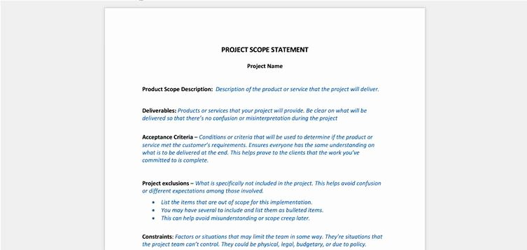 Simple Project Scope Template Luxury How to Create Robust Project Scope and Avoid Scope Creep