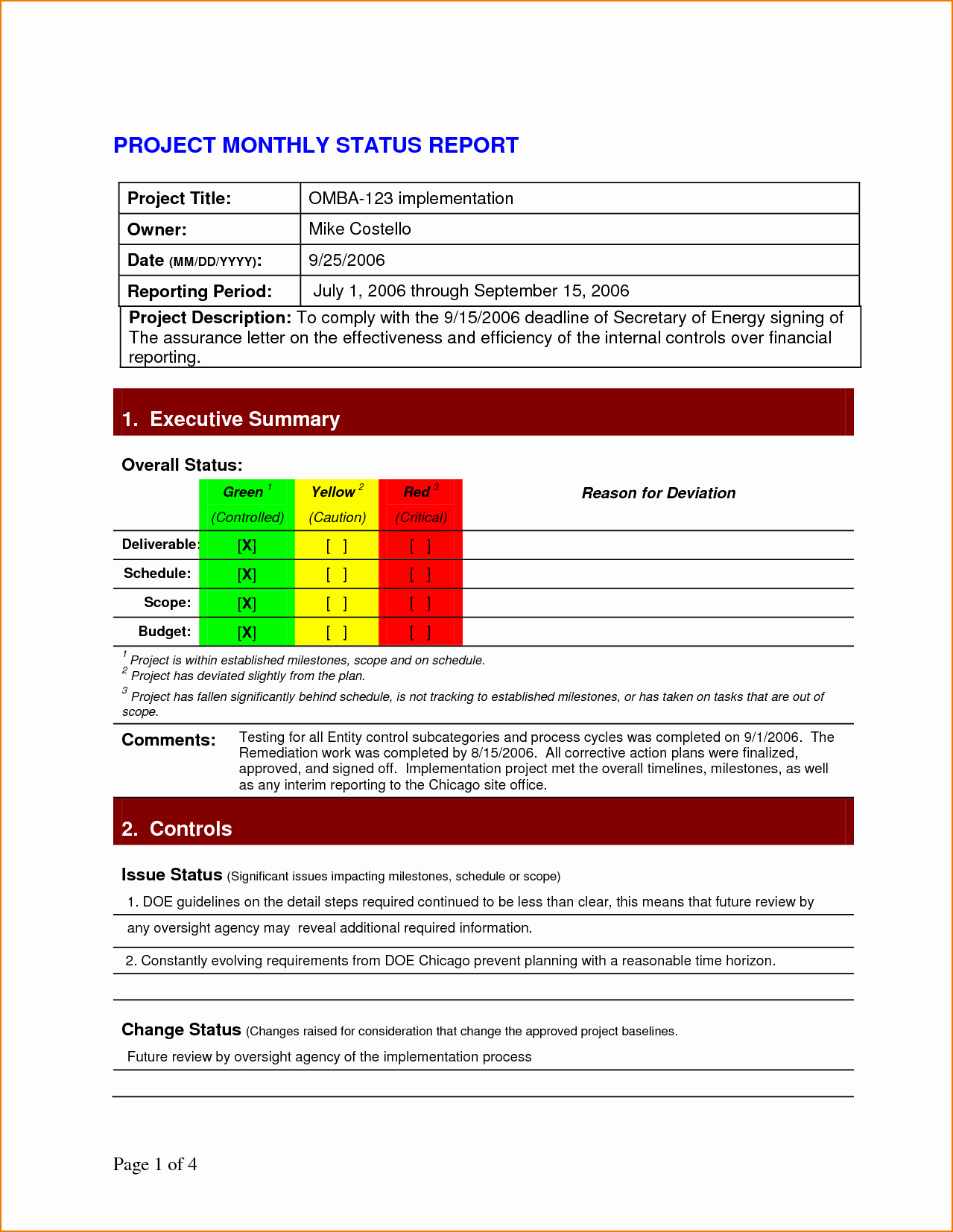 Simple Project Status Report Template Best Of 5 Project Status Report Template