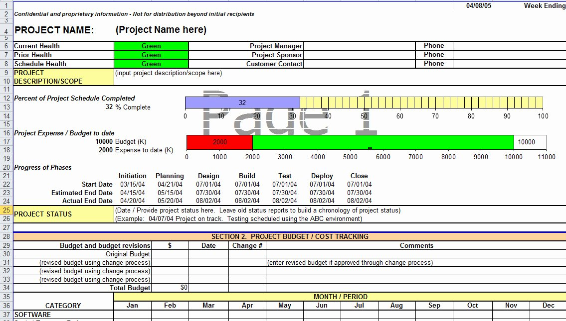 Simple Project Status Report Template Elegant Project Update Template Excel