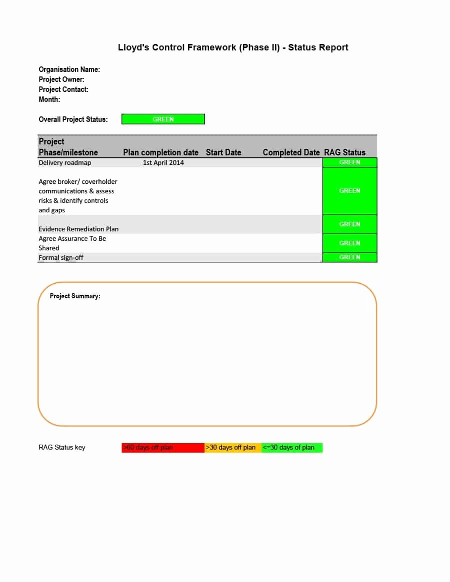 Simple Project Status Report Template Fresh 40 Project Status Report Templates [word Excel Ppt]