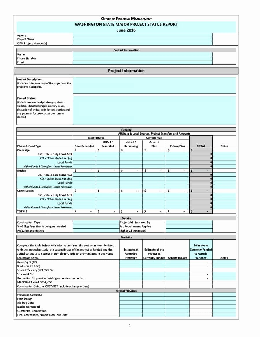 Simple Project Status Report Template Lovely 40 Project Status Report Templates [word Excel Ppt