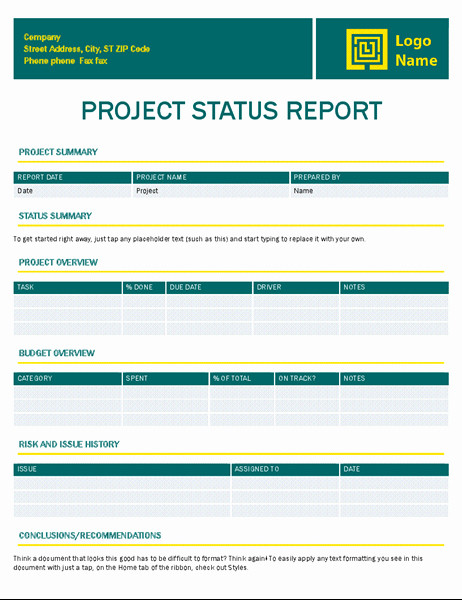 Simple Project Status Report Template Lovely Invoice Timeless Design Fice Templates