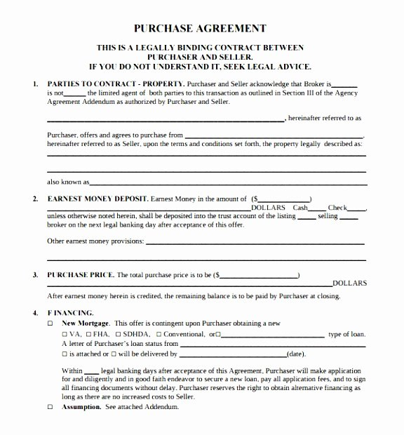 Simple Purchase Agreement Template Fresh 5 Simple Buy Sell Agreement Template Eaytt