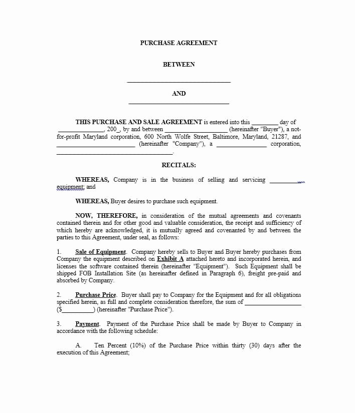 Simple Purchase Agreement Template Luxury 37 Simple Purchase Agreement Templates [real Estate Business]