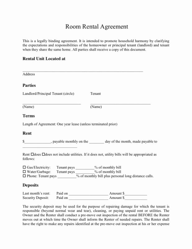 Simple Rental Agreement Template Luxury Simple E Page Rental Agreement Template