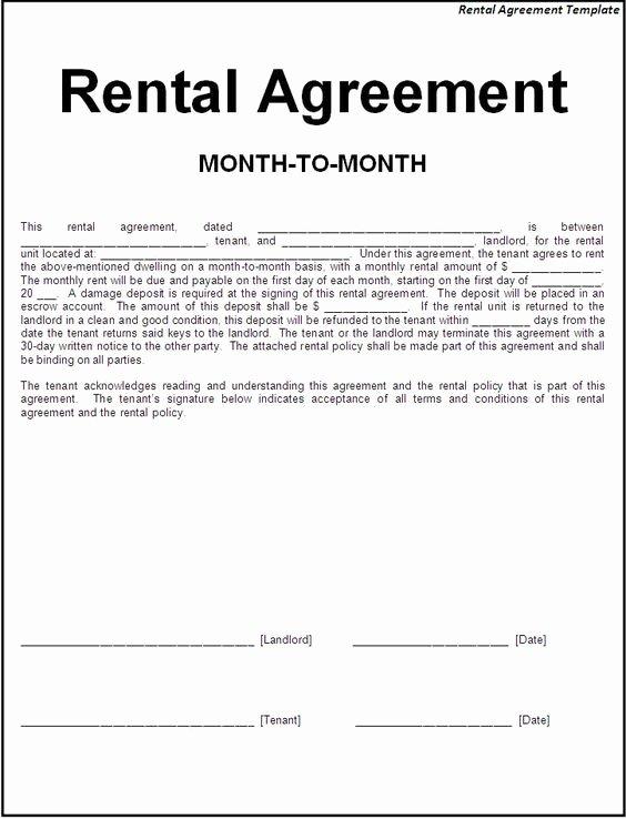 Simple Rental Agreement Template New Printable Sample Simple Room Rental Agreement form