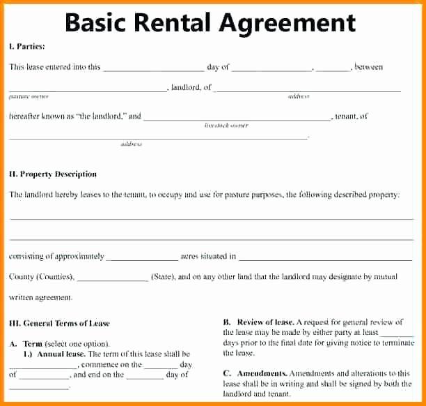Simple Rental Agreement Template Unique Download Free Basic Rental Agreement Template