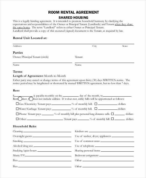 Simple Rental Agreement Template Unique Sample Basic Rental Agreement 8 Examples In Pdf Word