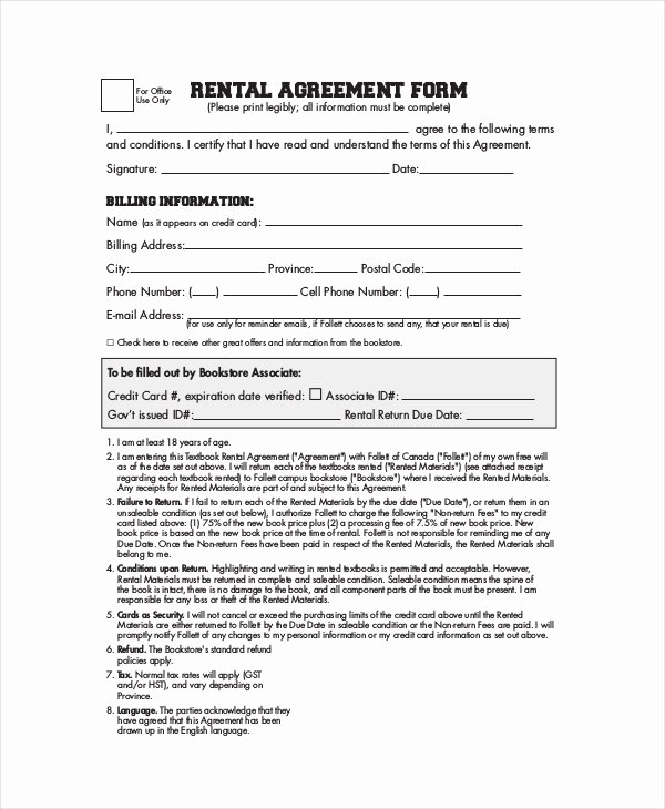Simple Rental Agreement Template Unique Simple Rental Agreement 33 Examples In Pdf Word