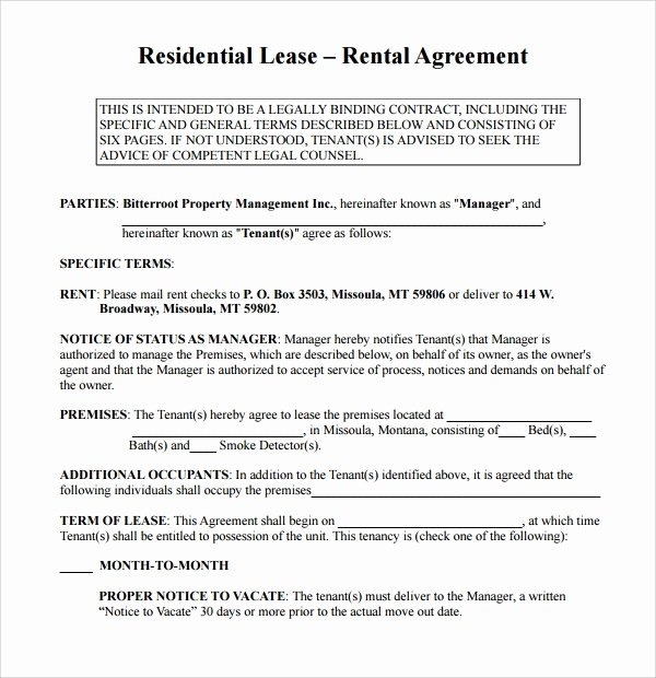 Simple Rental Agreement Template Unique Simple Rental Agreement 9 Download Free Documents In