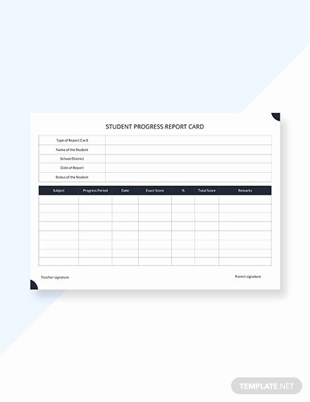 Simple Report Card Template Awesome 39 Free Report Card Templates Pdf Word Excel
