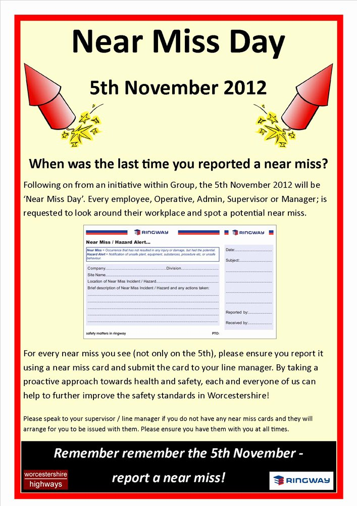 Simple Report Card Template Awesome Near Miss Reporting Cards Horneforsfo