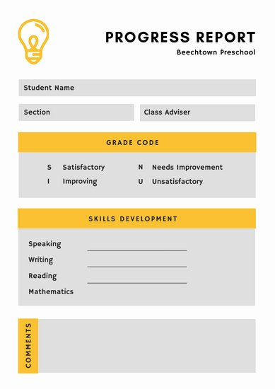 Simple Report Card Template Fresh Customize 1 048 Report Card Templates Online Canva