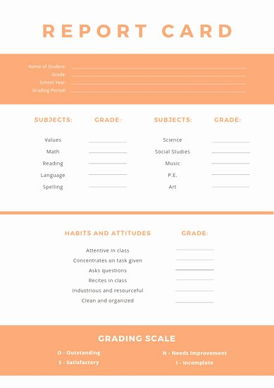 Simple Report Card Template Fresh Customize 9 033 Report Card Templates Online Canva