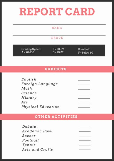 Simple Report Card Template Inspirational soccer Poster Templates Canva