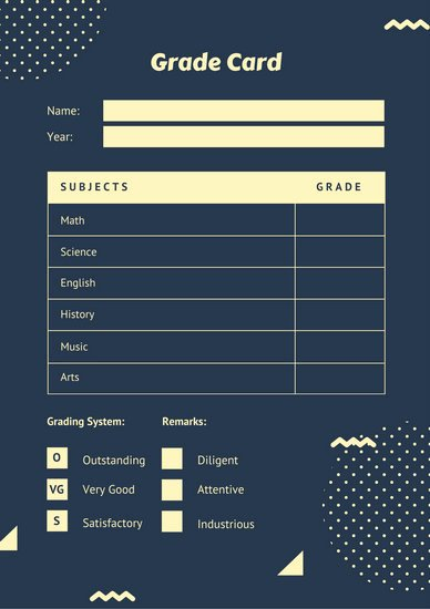 Simple Report Card Template Luxury Gray Simple Homeschool Report Card Templates by Canva