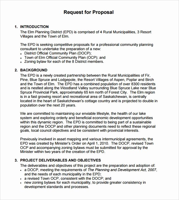 Simple Request for Proposal Template Luxury Sample Rfp Template 8 Free Documents In Pdf Word