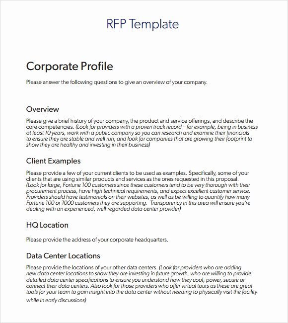 Simple Request for Proposal Template Unique Sample Rfp Template 8 Free Documents In Pdf Word