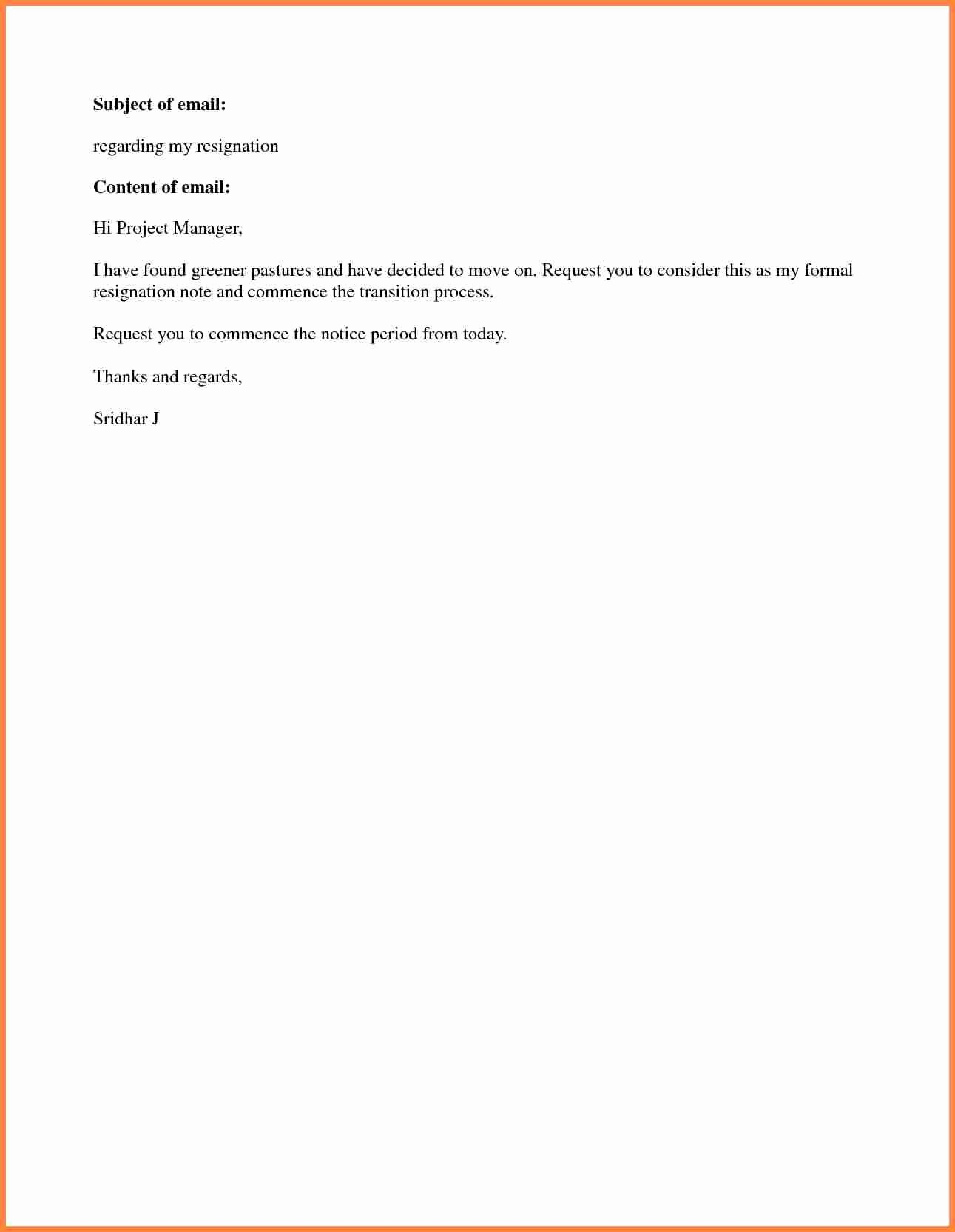Simple Resignation Letter Templates Awesome 8 Short Notice Resignation Letter Examples