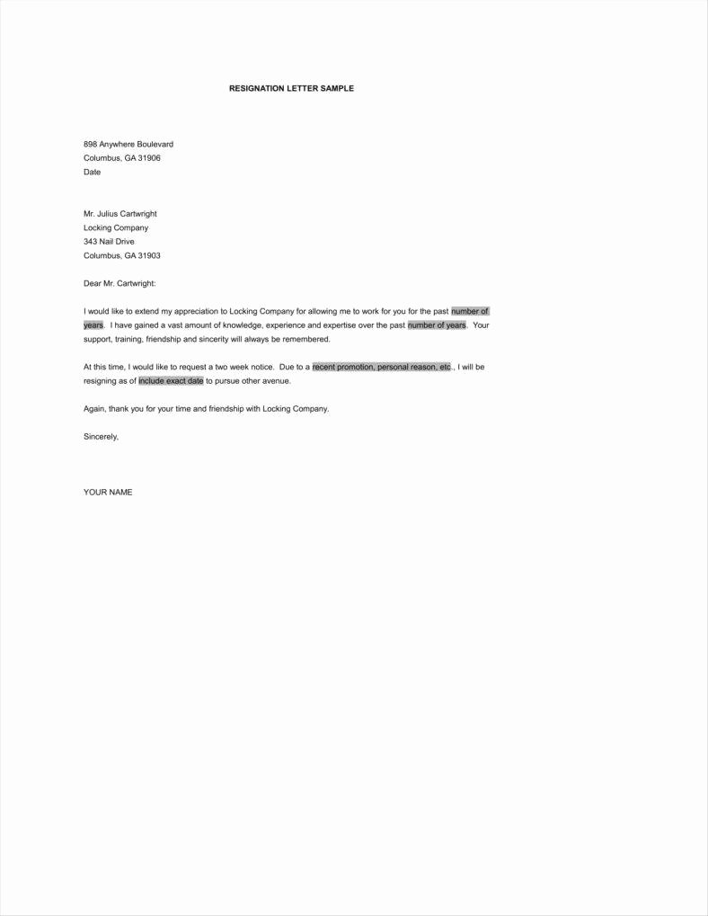 Simple Resignation Letter Templates Best Of 33 Simple Resign Letter Templates Free Word Pdf Excel